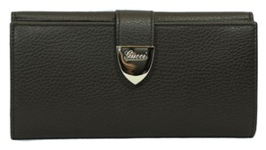 Gucci Gucci Womens 231837 Leather Wallet Clutch Brown