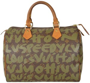 Louis Vuitton Monogram Speedy Speedy 30 Satchel in Brown