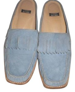 Stuart Weitzman Leather Loafers Blue Mules