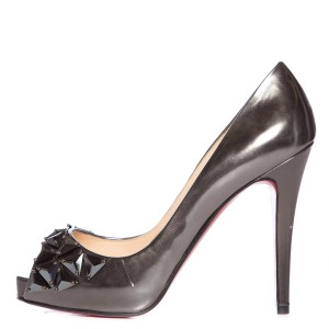 Christian Louboutin Metallic Gunmetal Pumps