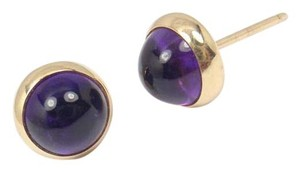 Tiffany & Co. Vintage Tiffany &Co Larter &Sons 14K Gold Amethyst Stud Earrings