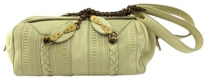 Bottega Veneta Satchel in Cream White