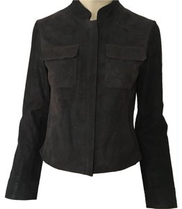 DKNY brown Leather Jacket