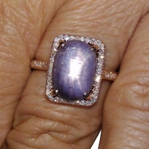 Other 6.18CT NATURAL UNTREATED LAVENDER PURPLE STAR SAPPHIRE 10K GOLD R