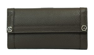 Gucci GUCCI 231839 Leather Continental Wallet, Brown