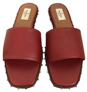 Valentino Leather Red Sandals