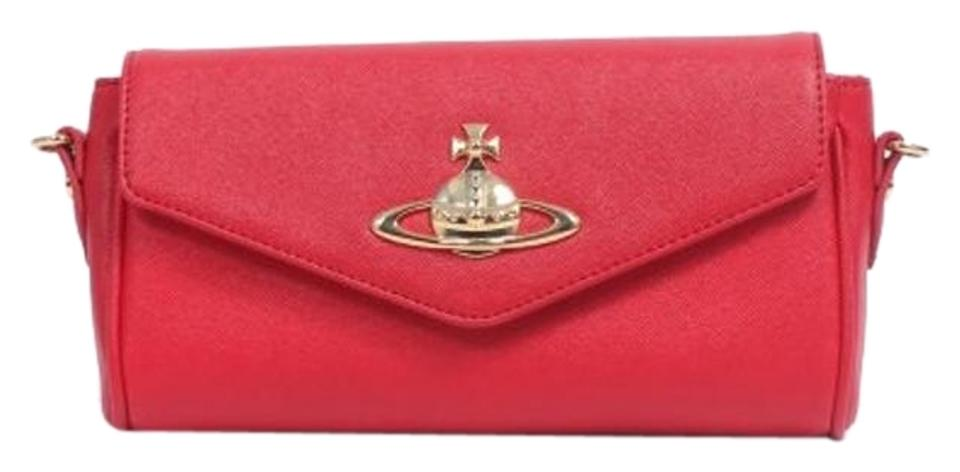 8af77fab140 Vivienne Westwood Clutch Anglomania Divina Ecopelle Red Leather ...