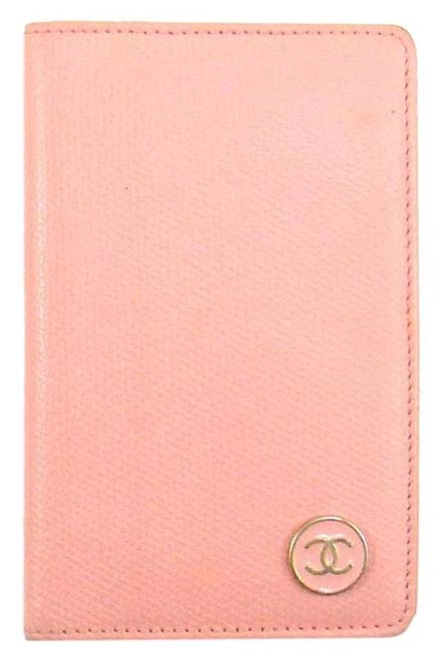 Chanel Pink Caviar Skin Leather Business Card Slim Case Italy W/ Box ...