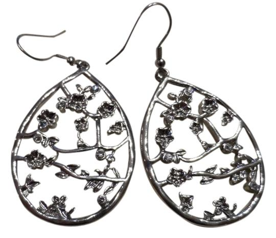 Oasis Cherry Blossom Silver Plated Earrings