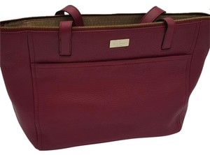 Kate Spade Highland Place Avani Leather Tote in Bacchuusred