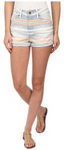 JOE'S Jeans Collectors Edition High Rise Rolled Tandier Bay Stripe Shorts Multi