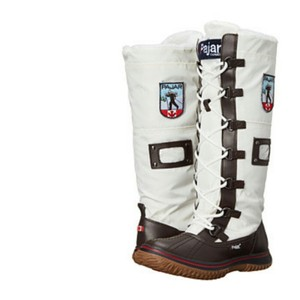 Pajar White Snow Knee High Winter Brown / Off-White Boots