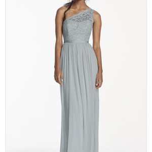 David's Bridal Mystic Long One Shoulder Lace Bridesmaid Dress Dress