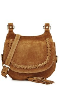 Vanessa Bruno Suede Saddle Leather Cross Body Bag
