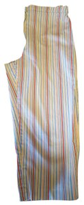 Coldwater Creek Capri Spandex Capri/Cropped Pants Multicolor mini stripes