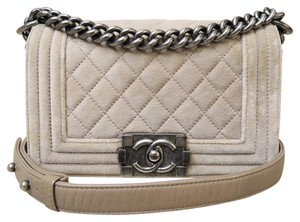 Chanel Small Velvet Boy Shoulder Bag