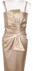Flavio Castellani Cocktail Shiny Gold Lame New With Tags Dress