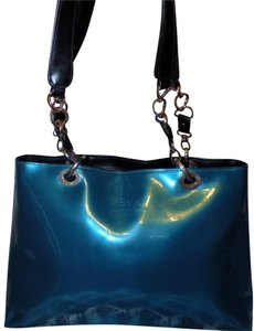 Beijo Detail Luxury Sparkle Structured Signature Tote in Cobalt Blue