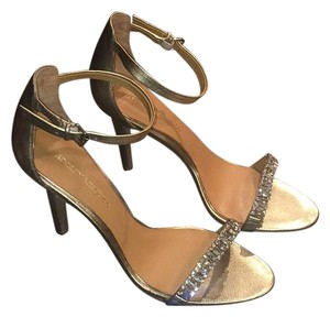 Badgley Mischka Metallic Gold Formal