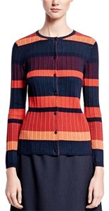 Brooks Brothers Cotton Novelty Stitch Ribbed Color-blocking Cardigan