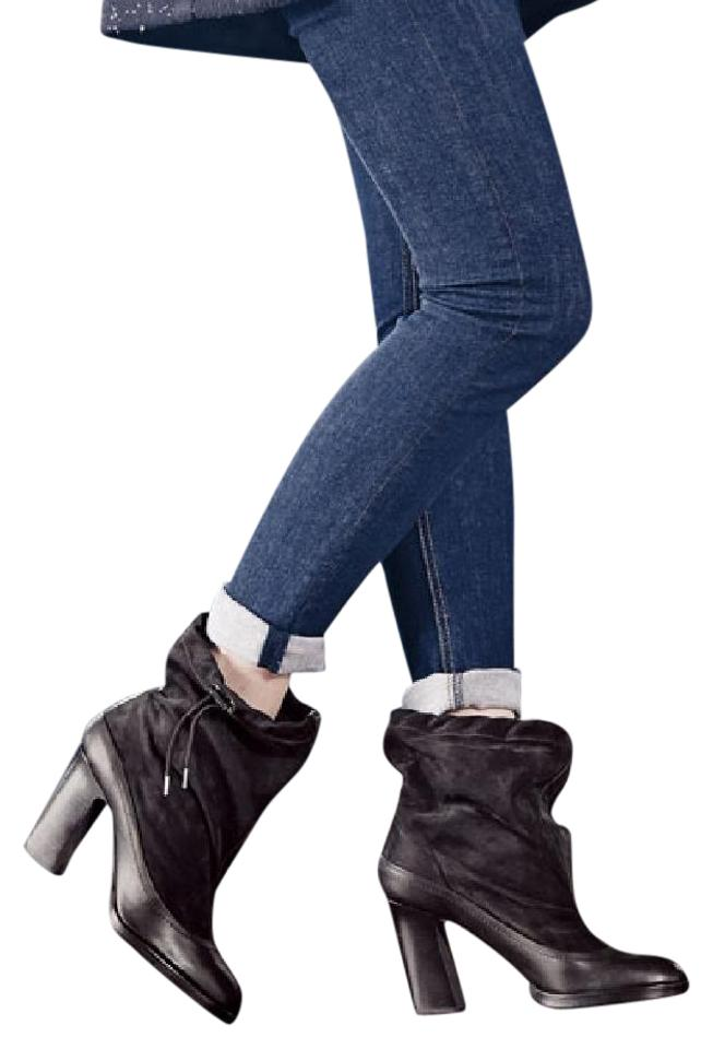 b8b82b858f2050 Rag   Bone Black Rag bone Holt Slouchy Ankle Nubuck Leather 38.5 Italy Boots  Booties