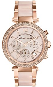 Michael Kors Michael Kors MK5896 Parker Blush & Rose Gold-Tone SS 39MM