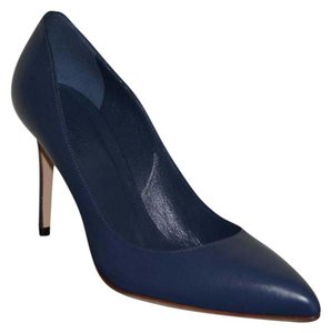 Gucci Leather Pointed Toe Heel Blue Pumps