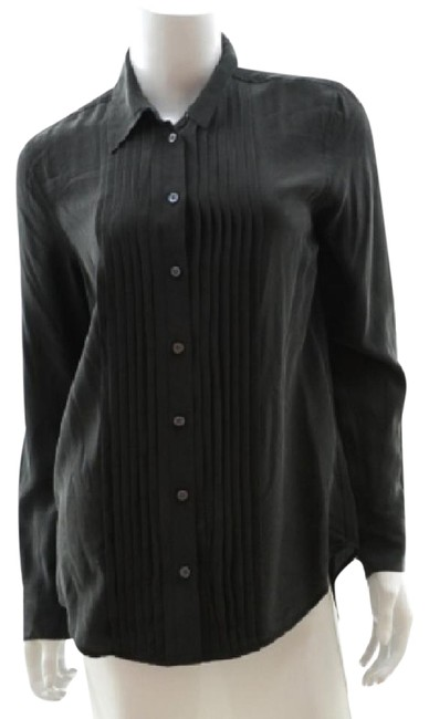 Item - Charcoal Grey Silk Shirt Button-down Top Size 2 (XS)