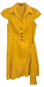 Nanette Lepore short dress Mustard yellow on Tradesy