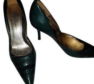 Marc Fisher Leather D'orsay Green Pumps