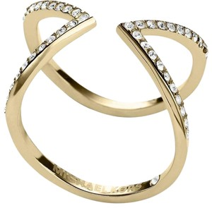 Michael Kors NWT Collection Open Arrow Ring Gold MKJ37497108 SIZE 8
