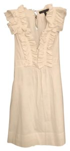 BCBGMAXAZRIA short dress White Bcbg Ruffle Feminine on Tradesy