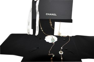 Chanel Chanel 2016 NEW GLASS ENAMEL GOLD NECKLACE FULL PACKAGE