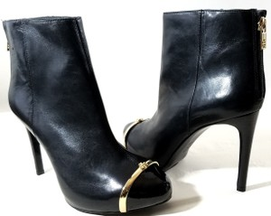 Tory Burch Hidden Platform Leather Black Boots