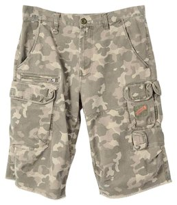A|X Armani Exchange Shorts camo faded greeen