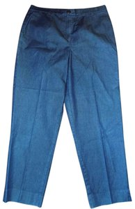 Talbots Signature Stretchy Structured Fitted Casual Khaki/Chino Pants Blue