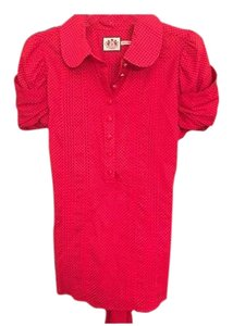 Juicy Couture Button Down Shirt Red/black