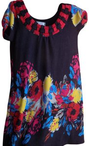 Funky People short dress Multi-color Floral Woven Eclectic Bright Bold on Tradesy