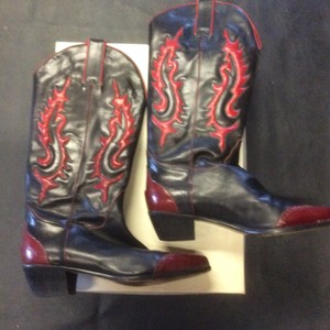 Bally Black & Red Boots