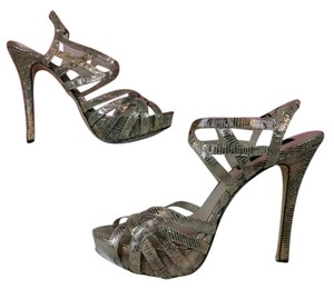 Steven by Steve Madden Strappy Party Gold Pumps