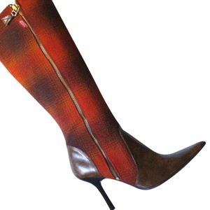Miss Sixty brown and orange Boots