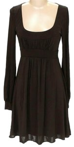BCBGMAXAZRIA Empire Waist Scoop Neck Dress