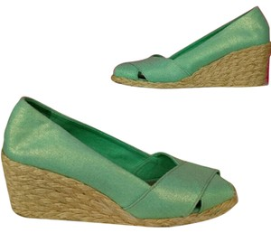 Lauren Ralph Lauren Espadrille Wedge Mint Green Wedges