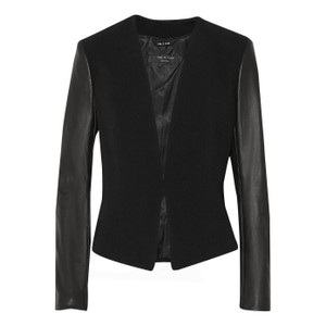 Rag & Bone Lamb Leather Leather Coat Black Blazer