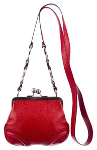 Burberry Kisslock Frame Trench Leather Cross Body Bag