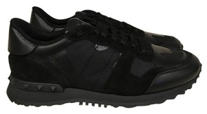Valentino Rockstud Studded Camo Suede black Athletic