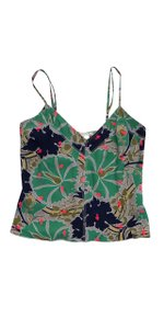 Stella McCartney Floral Silk Blend Spaghetti Strap Top Multi