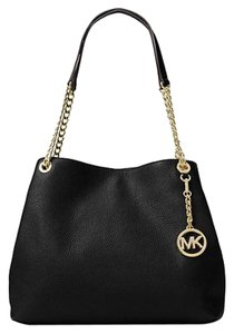 Michael Kors Gold Hardware Chain Strap Leather Shoulder Bag