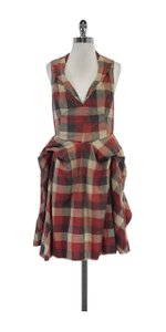 AllSaints short dress Checkered Draped Cotton on Tradesy