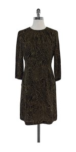 Tory Burch short dress Green Black Print Silk on Tradesy